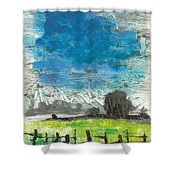 Shower Curtain featuring the painting La Crau by Martin Stankewitz