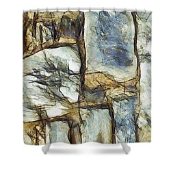 Shower Curtain featuring the painting La Creation D Etonnement by Sir Josef - Social Critic - ART