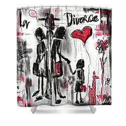 Shower Curtain featuring the digital art La Divorce  by Sladjana Lazarevic