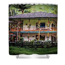 La Finca De Cafe - The Coffee Farm Shower Curtain
