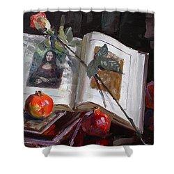 La Gioconda  Shower Curtain by Ylli Haruni
