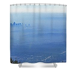 La In Smog Shower Curtain