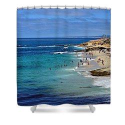 La Jolla Beach Shower Curtain