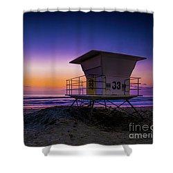 La Jolla Beach Sunset Shower Curtain