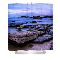 La Jolla Cove Twilight Shower Curtain