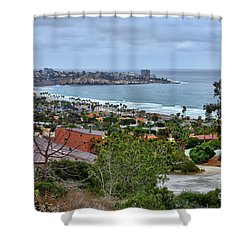 La Jolla Shoreline Shower Curtain