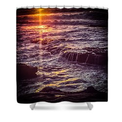 Shower Curtain featuring the photograph La Jolla Sunset-color by Samuel M Purvis III