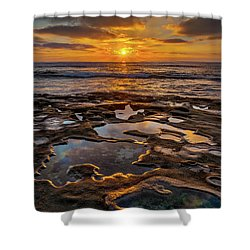 La Jolla Tidepools Shower Curtain by Peter Tellone