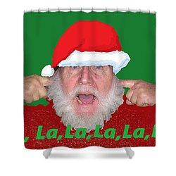 La La La Christmas Shower Curtain
