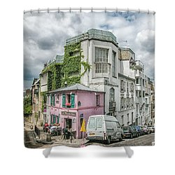 La Maison Rose Shower Curtain by Alan Toepfer