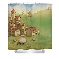 La Mancha Shower Curtain by Andy Catling