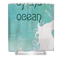 La Mer Mermaid 1 Shower Curtain