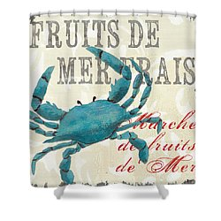 Charming La Mer Shellfish 1 Shower Curtain