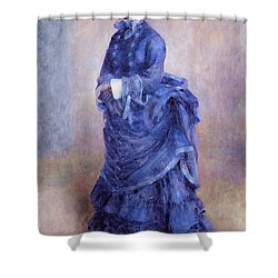 La Parisienne The Blue Lady  Shower Curtain by Pierre Auguste Renoir
