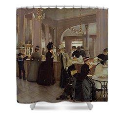 La Patisserie Shower Curtain by Jean Beraud