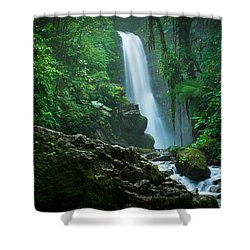 La Paz Waterfall Costa Rica Shower Curtain