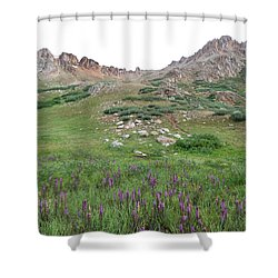 Shower Curtain featuring the photograph La Plata Peak by Cascade Colors