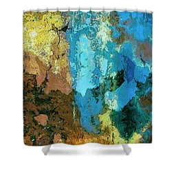 Shower Curtain featuring the painting La Playa by Dominic Piperata