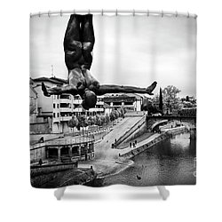 La Plongueuse Over The Midouze River Shower Curtain by RicardMN Photography