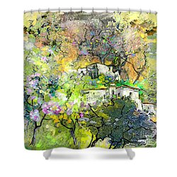 La Provence 07 Shower Curtain by Miki De Goodaboom