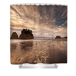La Push Sunset Shower Curtain