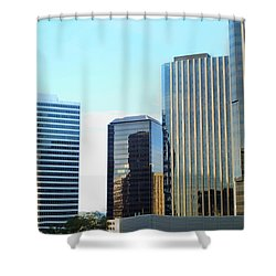 La Reflective Shower Curtain