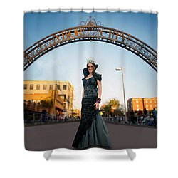 La Reina The Queen Shower Curtain by Steve Sperry