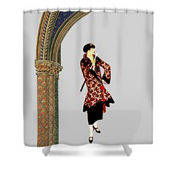 La Robe  Shower Curtain by Asok Mukhopadhyay