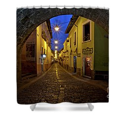 La Ronda Calle In Old Town Quito, Ecuador Shower Curtain by Sam Antonio Photography