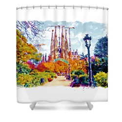 La Sagrada Familia - Park View Shower Curtain