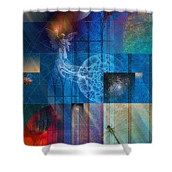 La Signatura Shower Curtain by Kenneth Armand Johnson