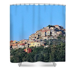 La Spezia Thru The Heart Of Tuscany To Florence Shower Curtain by Allan Levin