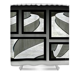 Shower Curtain featuring the photograph La Stairs Collage 01a by Ausra Huntington nee Paulauskaite