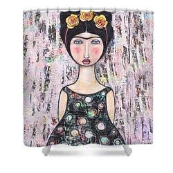 La-tina Shower Curtain by Natalie Briney