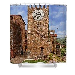 La Torre Del Carmine-montecatini Terme-tuscany Shower Curtain