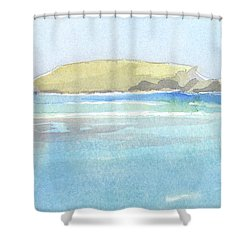 La Tortue, St Barthelemy, 1996_0046 60x35 Cm Shower Curtain