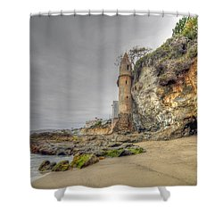La Tour By The Sea Shower Curtain