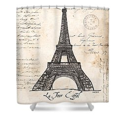 La Tour Eiffel Shower Curtain by Debbie DeWitt