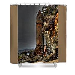 La Tour Upright Shower Curtain