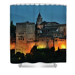 #laalhambra At Dusk - #ig_andalucia Shower Curtain