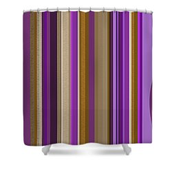 Large Purple Abstract - Two Shower Curtain by Val Arie