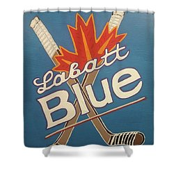 Labatt Blue Shower Curtain by Jonathon Hansen