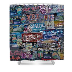 Labels  Shower Curtain