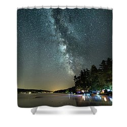 Labor Day Milky Way In Vacationland Shower Curtain