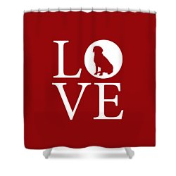 Labrador Love Red Shower Curtain