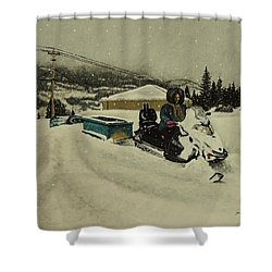 Labrador Nurse Shower Curtain