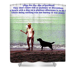 Labrador Retriever Shower Curtain by Charles Shoup
