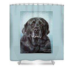 Labs Are The Most Sincere Shower Curtain