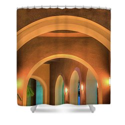 Shower Curtain featuring the photograph Labyrinthian Arches by T Brian Jones
