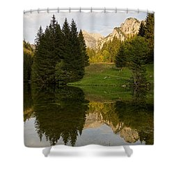 Lac De Fontaine Shower Curtain